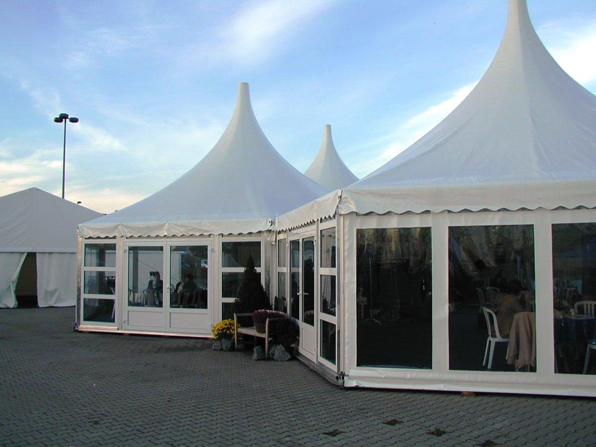 A RÖDER HTS (PZ) 3 way conversion shaped party tent