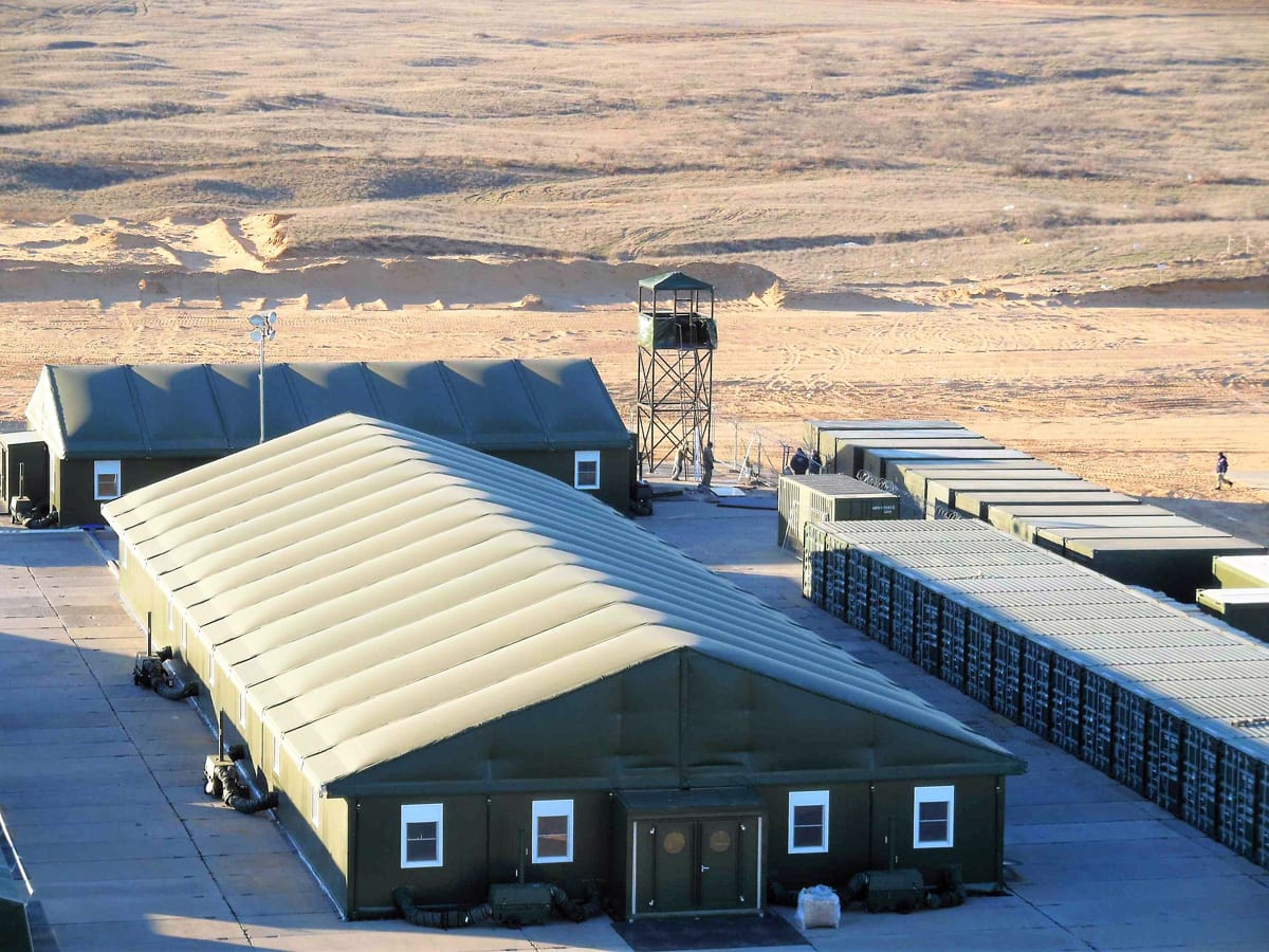 A Multi-purpose shelter in Military Field Camp