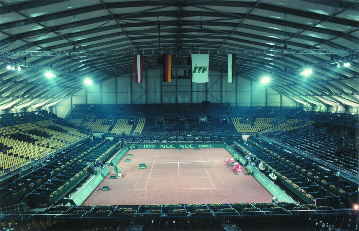 A Large permanent modular sports building for major tennis a tournament