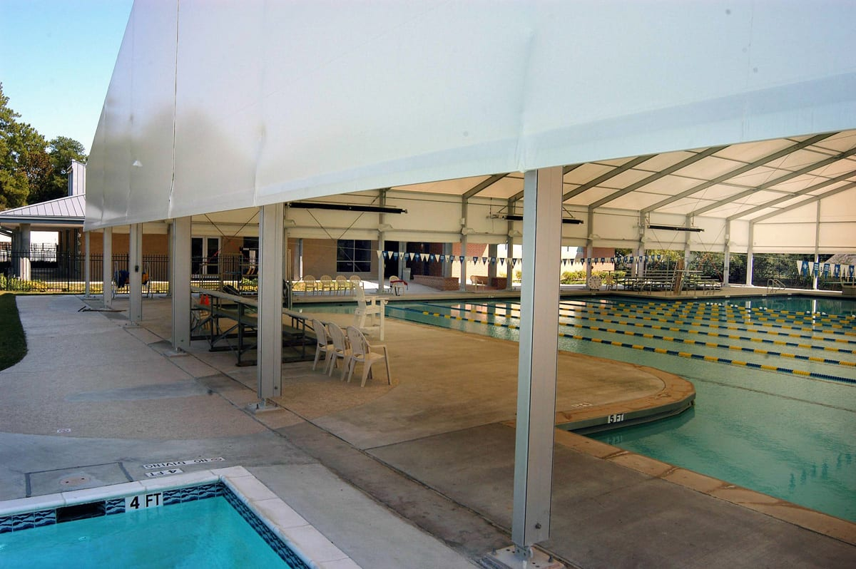 A Large swimming pool canopy