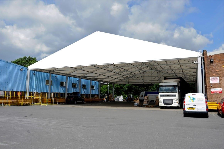 industrial canopy loading bay HTS tentiQ Case Study