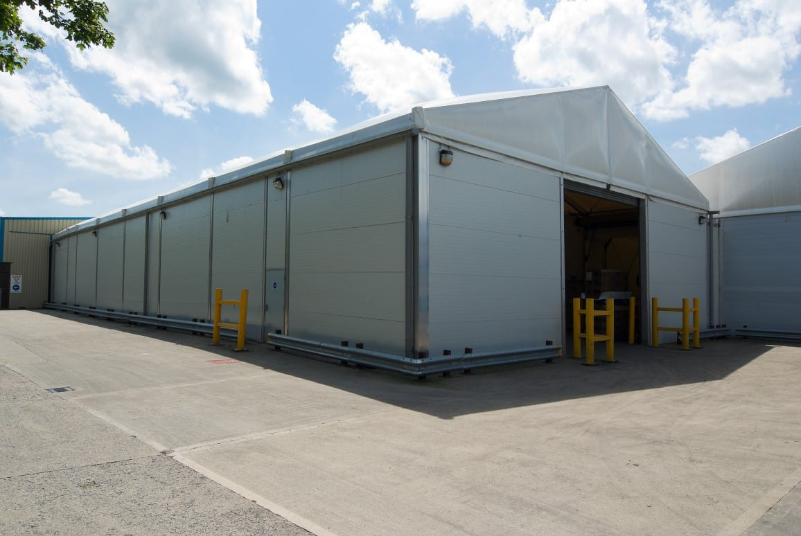 insulated temporary building HTS tentiQ case study