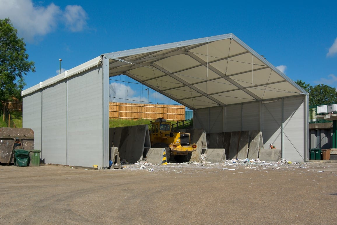 industrial canopy recyling depot - HTS tentiQ case study