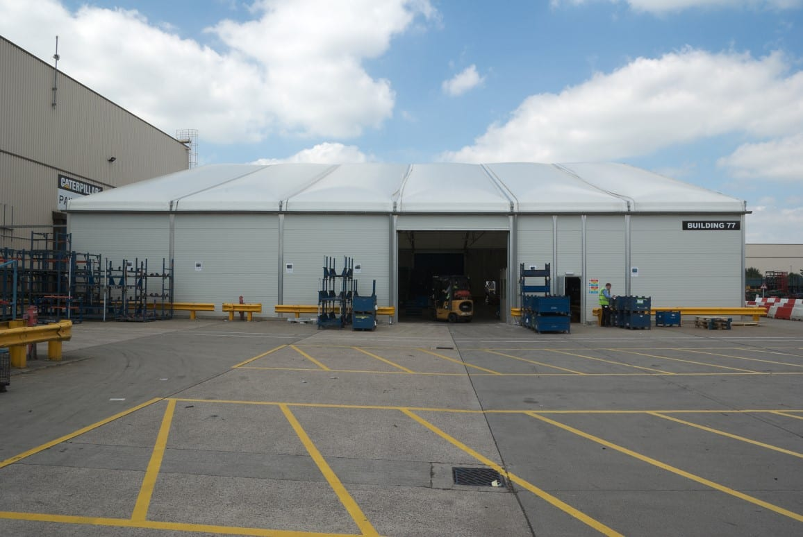 temporary  insulated building case study HTS tentiQ