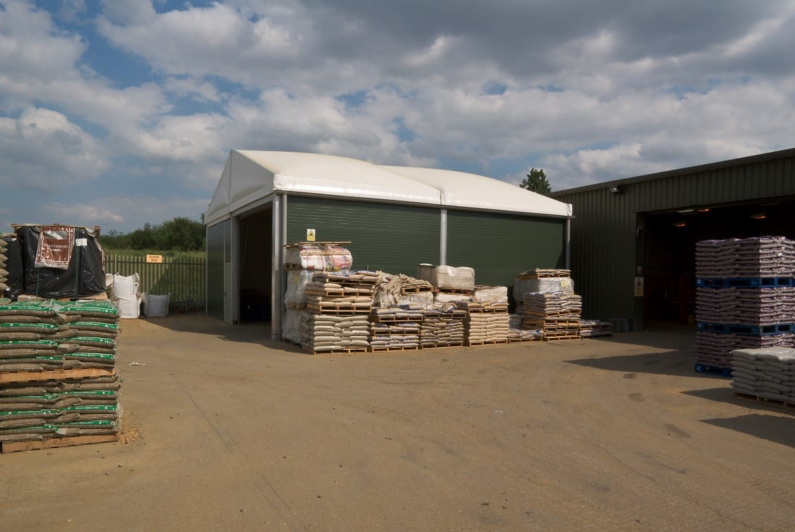 aggregate storage facility temporary building case study