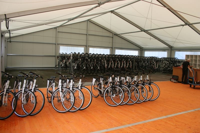 Bicycle Hire - Industrial Building - Case Study HTS tentiQ
