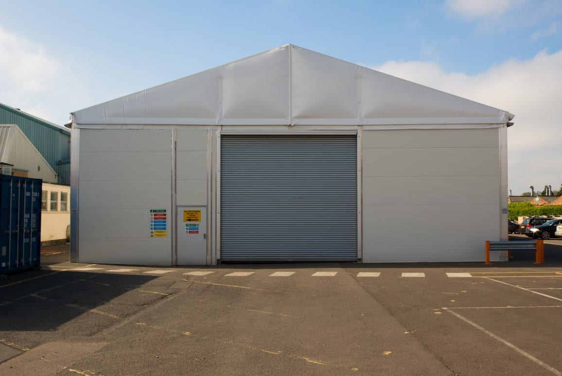 HTS tentiQ Temporary Warehouse Case Study Airfoil