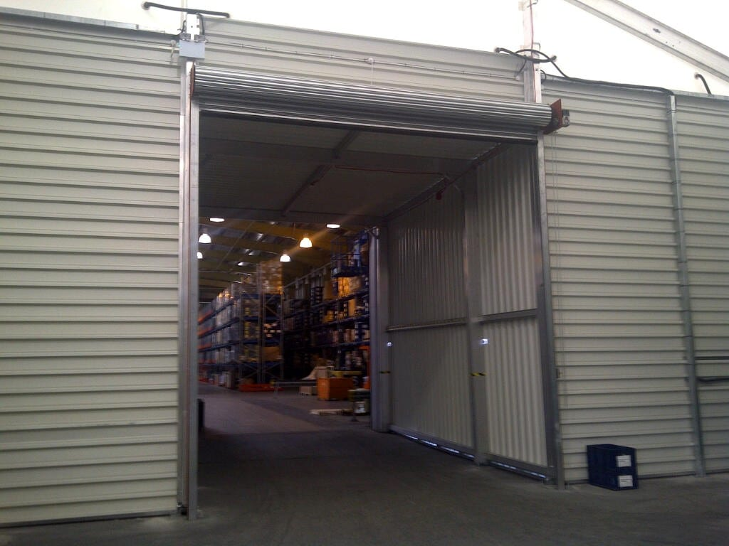 temporary aluminium warehouse HTS tentiQ case study