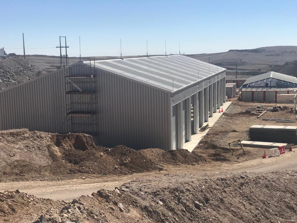 Temporary warehouse for mining camp