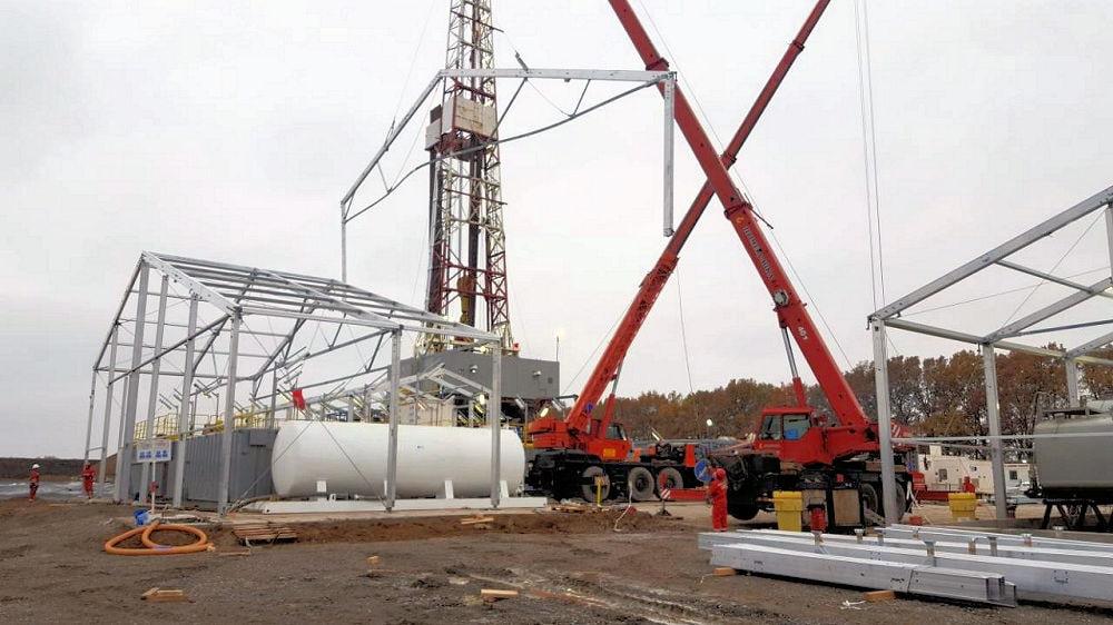 Structure around drilling equipment-min