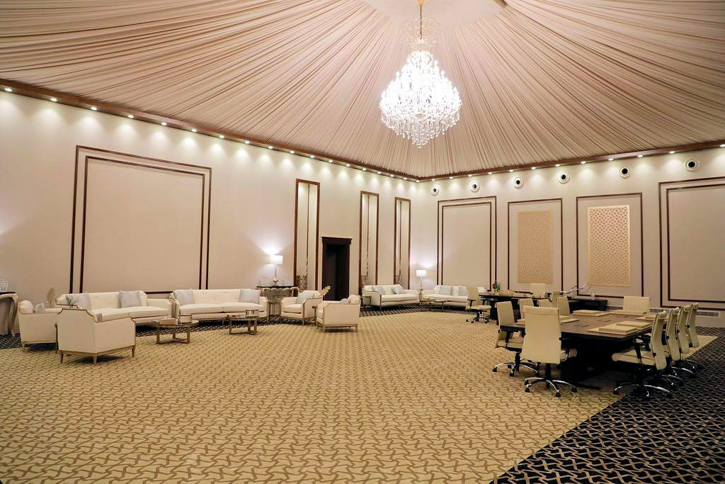 Luxurious fixtures and fittings for inside tents